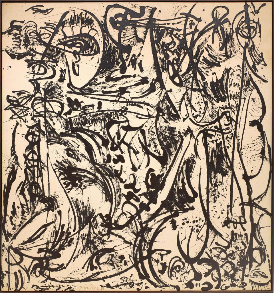 """Echo (Number 25, 1951)"" by Jackson Pollock."